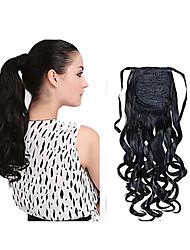 новая мода длинные волнистые синтетический шнурок хвост клип расширение вьющиеся волосы