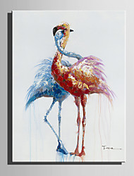 cheap -Mini Size E-HOME Oil painting Modern Love  Of The Crane Pure Hand Draw Frameless Decorative Painting