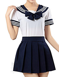 cheap -Inspired by Sailor Moon Cosplay Anime Cosplay Costumes Cosplay Suits Striped Short Sleeve Shirt / Skirt For Men's / Women's