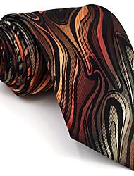 Недорогие -мужской старинный милый участник работы случайный районный галстук геометрический цветной блок жаккард, основной