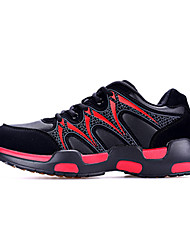 Women's Athletic Shoes Summer Couple Shoes PU Athletic Low Heel Magic Tape Red Gray Running