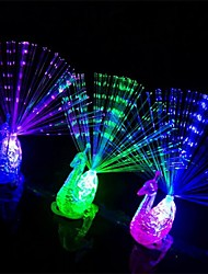 2 Pc The Peacock Shaped  Led Finger Lamp The Gifts For Children