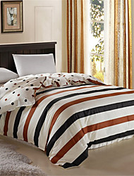 Duvet Cover Stripe 1 Piece Cotton Reactive Print Cotton 1pc Duvet Cover