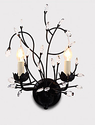 LightMyself 2 Lights Black Wall Lights E12 E14 Modern/Contemporary Traditional/Classic Rustic/Lodge Country Painting Feature for Crystal LEDUplight