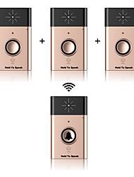 Wireless voice intercom door-bell ABS Sonnette non-visuel Sans fil Systèmes Sonnette