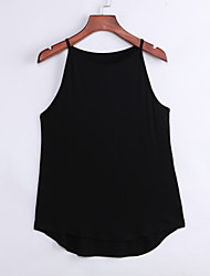 cheap -Women's Cotton Tank Top - Solid, Backless Strap