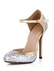 Women's Heels Spring Summer Comfort Synthetic Wedding Party & Evening Dress Stiletto Heel Silver