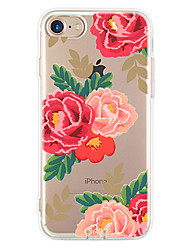 cheap -For Apple iPhone 7 7Plus 6S 6Plus Case Cover Peony Pattern HD TPU Phone Shell Material Phone Case