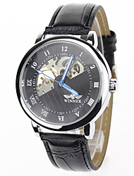 cheap -Men's Mechanical Watch Wrist watch Dress Watch Fashion Watch Sport Watch Mechanical manual-winding Casual Watch Genuine Leather Band