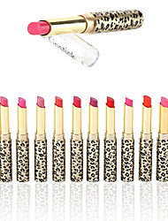 cheap -12Pcs/Set Leopard Long Lasting Lipstick Moisturize Bright Nude Lip Gloss Pencil Balm