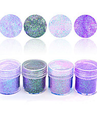 cheap -1 Box 10ml Purple Pink Colorful Mixed Nail Glitter Holographic Glitters Powder Sheets Tips Nail Art Decoration