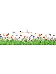 cheap -Wall Stickers Wall Decals Style Flowers Plants PVC Wall Stickers