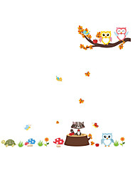 cheap -Wall Stickers Wall Decals Style Cartoon Cute Animal Tree Branches PVC Wall Stickers