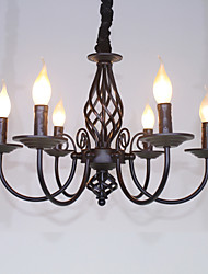 Chandelier ,  Traditional/Classic Others Feature for Candle Style Metal Living Room Bedroom Dining Room Study Room/Office Kids Room
