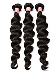 Недорогие -Бразильские волосы Человека ткет Волосы 3 Связки Ткет человеческих волос Черный Расширения человеческих волос