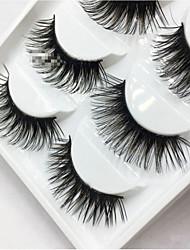 cheap -Eyelashes Full Strip Lashes Eyes Lifted lashes Volumized Curly Handmade Fiber Black Band