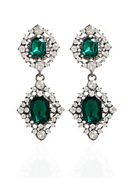 cheap -Rhinestone Drop Earrings Hoop Earrings Earrings Set Jewelry Women Wedding Party Casual Rhinestone 1 pair Jade