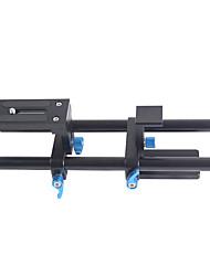 yelangu appareil photo reflex numérique de système de support de tige de rail 15mm montage patère avec 1/4 vis plateau rapide