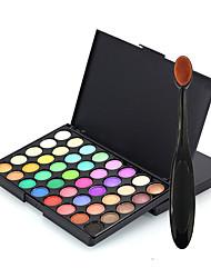 40 Palette di ombretti Secco Gamma di colori dell'ombretto Polvere pressata Normale Trucco giornaliero
