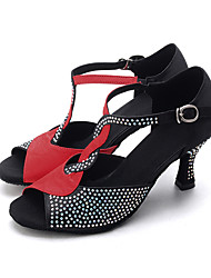cheap -Women's Dance Shoes Latin Leatherette Flared Heel Customizable