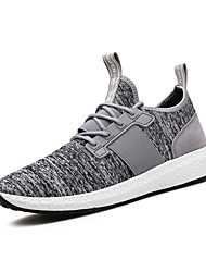 cheap -Men's Shoes Fabric Spring Fall Comfort Sneakers Walking Shoes Lace-up Split Joint for Athletic Casual Outdoor Black Gray Blue