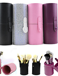 cheap -Makeup Storage Cosmetic Bag Cosmetic Box 17.5*6.5 Black Purple Pink Multi-color Random color