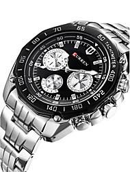 cheap -Men's Quartz Wrist Watch Sport Watch Calendar / date / day Swiss Designers Alloy Band Charm Casual Dress Watch Fashion Multi-Colored