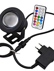 cheap -10W LED RGB LED Resistant Garden Landscape Fountain Pond Floodlight Lamp Bulb power adapter EU plug Memory FunctionTiming Setting(AC85-265V)