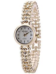 cheap -Women's Fashion Watch Wrist watch Quartz / Alloy Band Cool Casual Elegant Gold