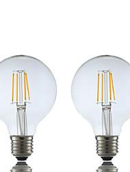 economico -2pcs 4W 400 lm E26/E27 Lampadine LED a incandescenza G80 4 leds COB Bianco caldo 2700K AC 220-240V