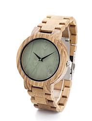 cheap -Women's Fashion Watch / Wood Watch / Wood Band Casual Khaki