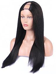 Middle Side Part Wigs Brazilian Hair Upart Wig Straight U Part Human Hair Wigs 8A Unprocessed Human Hair U Part Wig Cheap