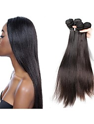 "cheap -Unprocessed Remy Weaves High Quality 12""~28"" More Than One Year 0.5 Daily Classic Straight"