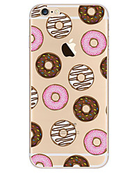 For Apple iPhone 7 7Plus 6S 6Plus Case Cover Donuts Pattern HD TPU Phone Shell Material Phone Case