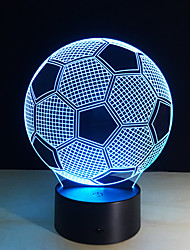 cheap -New Creative Football Shape 3D Illusion Night Light 7Colors Changeable For Bedroom Decoration