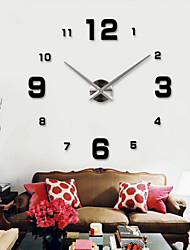 cheap -Wall Clock Clocks Watch Horloge Murale Diy 3d Acrylic Mirror Large Home Quartz Circular Needle Modern