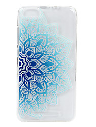 cheap -For Wikon Lenny3 phone Case Blue Flower Lace Embossed Pattern TPU Material High Penetration