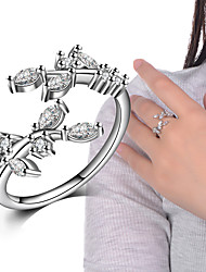 cheap -Ring Wedding Party Special Occasion Daily Casual Jewelry Alloy Cubic Zirconia Ring Midi Rings Band Rings 1pcOne Size Silver