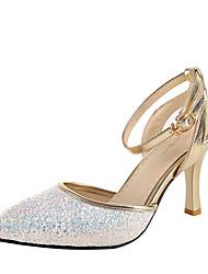 economico -Per donna Scarpe Finta pelle Estate D'Orsay Club Shoes Sandali A stiletto Appuntite Fibbia per Matrimonio Formale Serata e festa Bianco