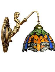 e27 220v 3-5㎡ europeu contraiu rural criativo ferro forjado parede de vidro da lâmpada luzes led
