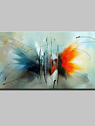 cheap -Hand-Painted Abstract Horizontal, European Style Modern Canvas Oil Painting Home Decoration One Panel