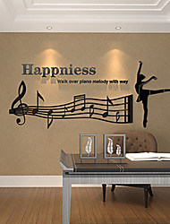 Music Wall Stickers 3D Wall Stickers Decorative Wall Stickers,Vinyl Material Home Decoration Wall Decal