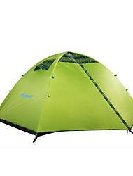 Недорогие -HIMAGET 2 человека Туристические палатки На открытом воздухе Водонепроницаемость, Компактность, С защитой от ветра Двухслойные зонты Палатка >3000 mm для Охота Рыбалка Пешеходный туризм Алюминий