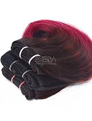 Недорогие -3 Связки Бразильские волосы Естественные кудри 8A Натуральные волосы Человека ткет Волосы Омбре Ткет человеческих волос Расширения человеческих волос