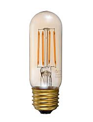 3.5 E26 Lâmpadas de Filamento de LED T 4 COB 300 lm Âmbar Regulável Decorativa AC 110-130 V 1 pç