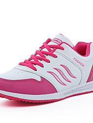 Homme-Extérieure Décontracté Sport-Noir Blanc Pêche-Plateforme-Creepers Confort-Chaussures d'Athlétisme-Similicuir