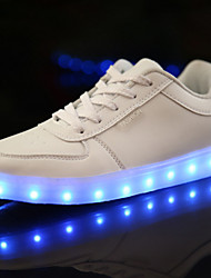 cheap -Girls' Sneakers Comfort Novelty Canvas Spring Summer Fall Winter Athletic Casual Outdoor Walking Comfort Novelty Lace-up LED Flat Heel