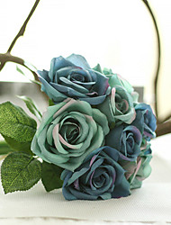 cheap -9 Branch/Bouquet Silk Rose Hand Tied Bouquet Artificial Flowers