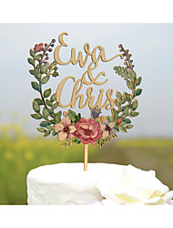 Cake Topper Beach Theme Garden Theme Floral Theme Classic Theme Vintage Theme Classic Couple Card Paper Hard plastic Acrylic Wedding