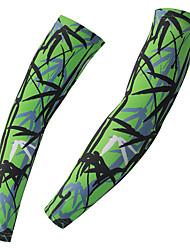 Недорогие -1 пара XINTOWN Велосипедные рукава Armwarmers Легкость Защита от солнечных лучей Устойчивость к УФ Велоспорт Белый Зеленый Эластан Зима для Мужчины Женский Взрослые / Эластичная / Дышащий / Дышащий